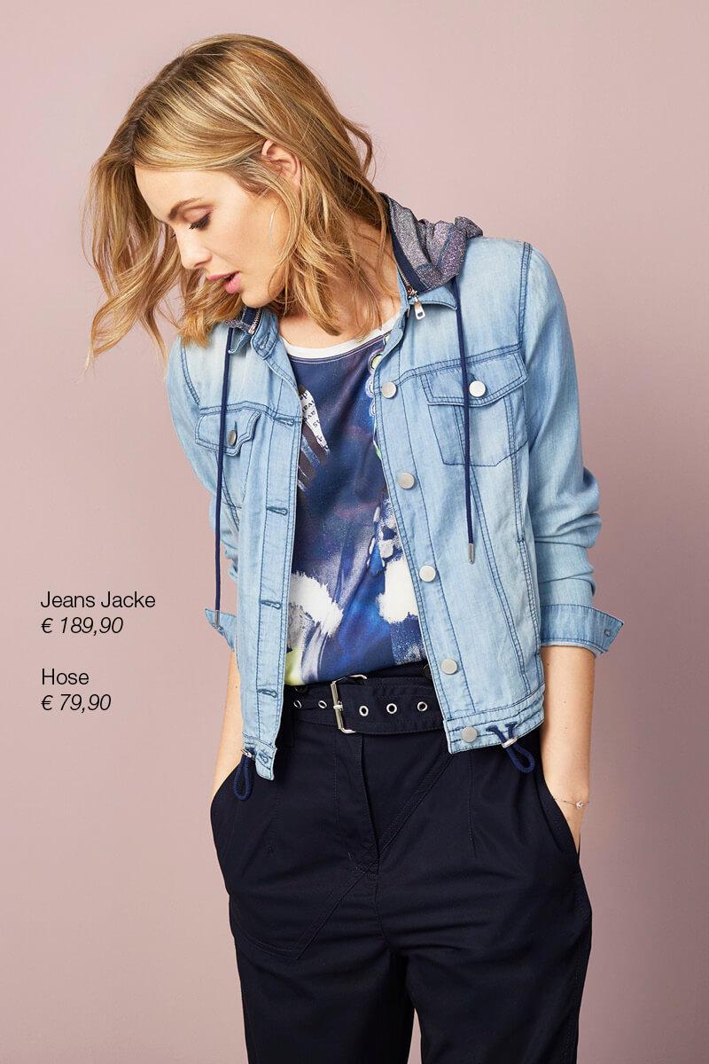 Jeans-Jacke + Hose