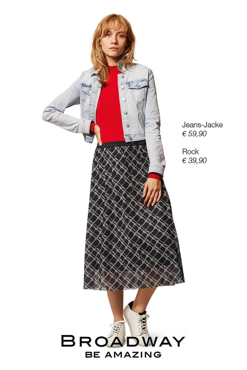 Jeans-Jacke + Rock