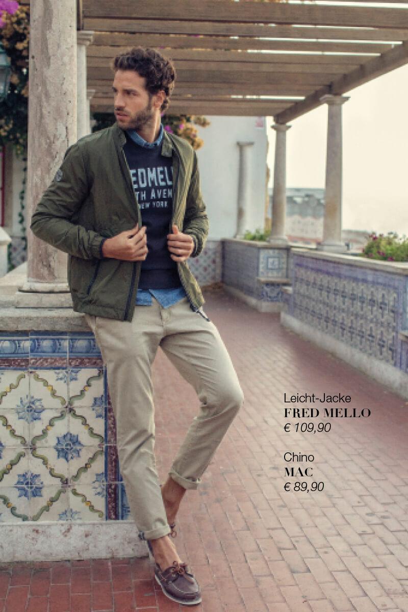 Leicht-Jacke FRED MELLO + Chino MAC